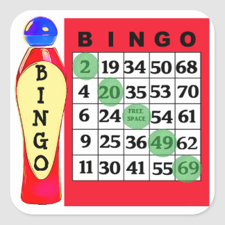 Red BINGO & Dauber Stickers