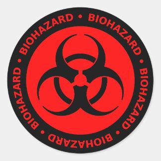 Red Biohazard Warning Sticker