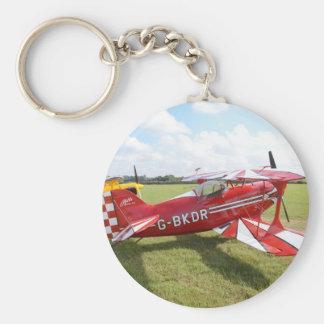 Red Biplane Keychain