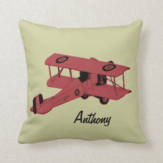red biplane kids room toss pillow throw cushions