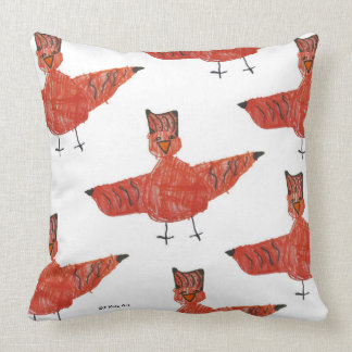 "Red Bird 20""x20"" Pillow"