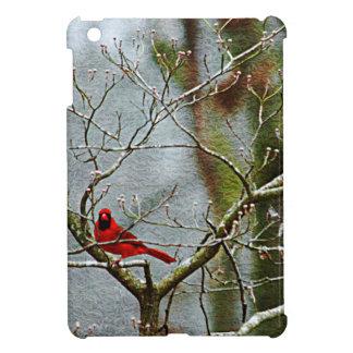 Red Bird In Winter iPad Mini Cover