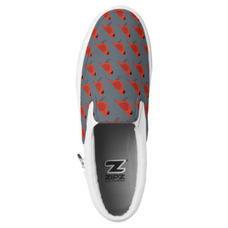 Red Bird Printed Shoes