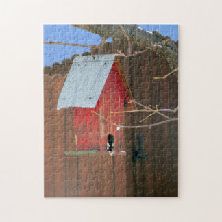 Red Birdhouse Jigsaw Puzzle