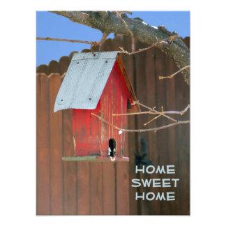 Red Birdhouse Photo