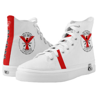 RED BIRDS FOREVER - 7 STATES HIP HOP PRINTED SHOES