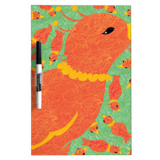 Red Birds of Happiness Dry Erase Board