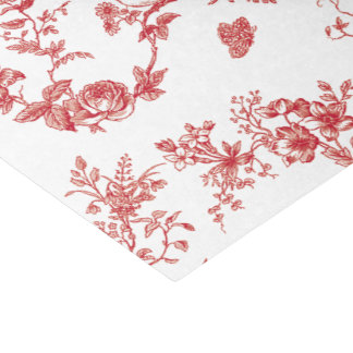 Red Birds Toile Tissue Paper