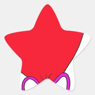 Red Birthday Balloon Star Sticker