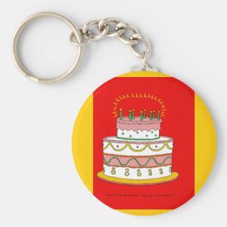 Red Birthday Cake Key Chain