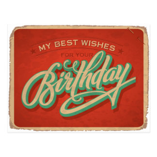 Red Birthday Postcard