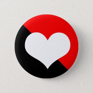 Red & Black 6 Cm Round Badge