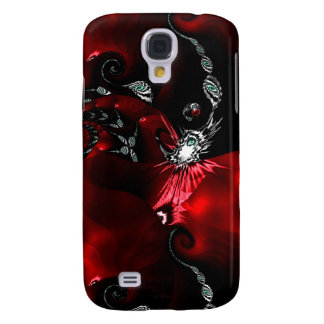 Red Black Abstract Art Samsung Galaxy S4 Case