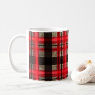 Red,Black and Gray Lumberjack Plaid Tartan Coffee Mug