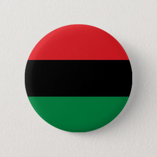 Red Black and Green Pan-African UNIA flag 6 Cm Round Badge