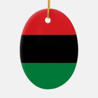 Red Black and Green Pan-African UNIA flag Ceramic Oval Decoration