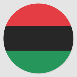 Red Black and Green Pan-African UNIA flag Classic Round Sticker