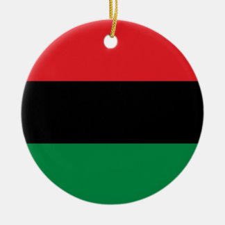 Red Black and Green Pan-African UNIA flag Round Ceramic Decoration