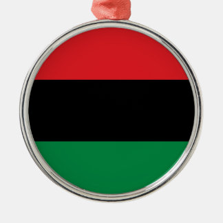 Red Black and Green Pan-African UNIA flag Silver-Colored Round Decoration