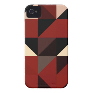 Red Black and Tan Geometrical Pattern Design iPhone 4 Cover