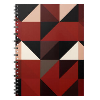 Red Black and Tan Geometrical Pattern Design Notebooks