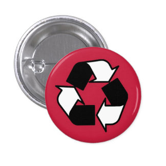 Red Black and White BOLD recycle button