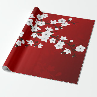 Red Black And White Cherry Blossom