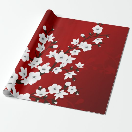 Red Black And White Cherry Blossoms