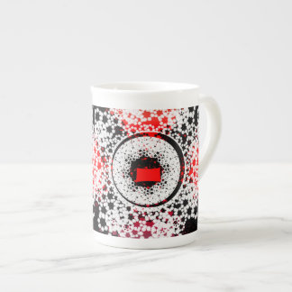 Red Black and white Elegant Mug