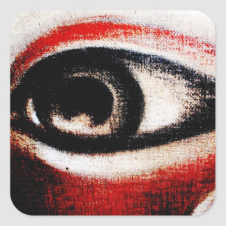Red, Black and White Eye of Ra Square Sticker
