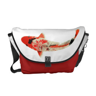 Red Black and White Koi Fish Courier Bag