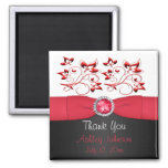 Red, Black, and white Party Favour Magnet
