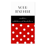 Red, Black and White Polka Dots Pack Of Standard Business Cards