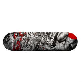 Red, Black and White Street Art Graffiti Skate Board Decks