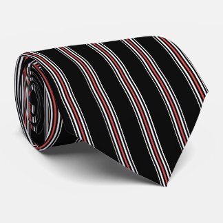 Red Black and White Striped Tie   Vertical Stripes