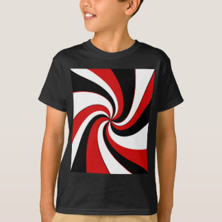 Red, black and white twist T-Shirt