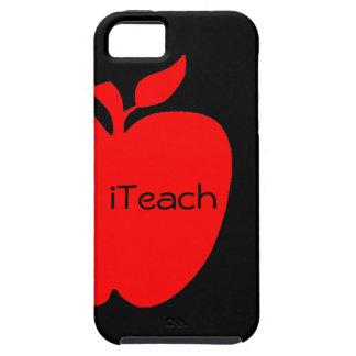 Red & Black Apple Teacher's iPhone 5 Case