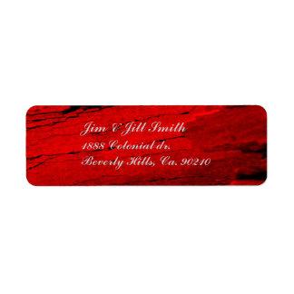 Red & Black Attack Set Return Address Label