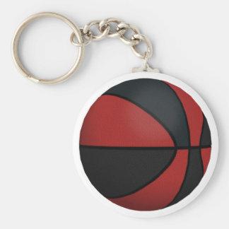 Red & Black Basketball: Key Ring