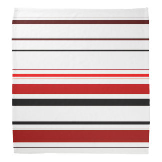 Red Black Beige Brown Stripes Bandana