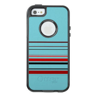 Red Black Blue Brown Stripes OtterBox iPhone 5/5s/SE Case