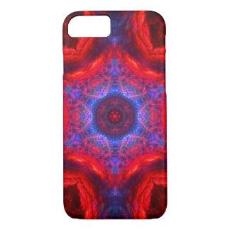 Red & black & blue galaxy kaleidoscope case