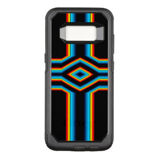 Red Black Blue Yellow Abstract Rainbow Neon Cross OtterBox Commuter Samsung Galaxy S8 Case