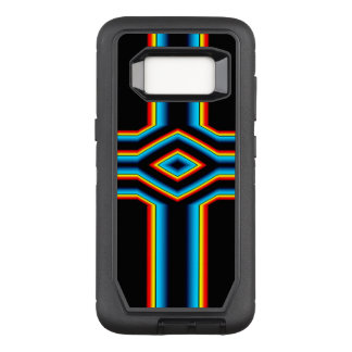Red Black Blue Yellow Abstract Rainbow Neon Cross OtterBox Defender Samsung Galaxy S8 Case