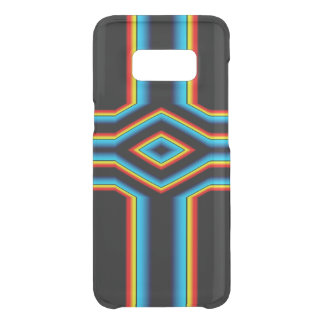 Red Black Blue Yellow Abstract Rainbow Neon Cross Uncommon Samsung Galaxy S8 Case