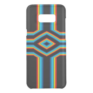 Red Black Blue Yellow Abstract Rainbow Neon Cross Uncommon Samsung Galaxy S8 Plus Case