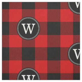 Red Black Buffalo Plaid Lumberjack 1IR Monogram Fabric