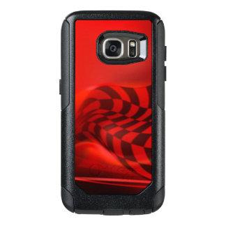 Red Black Checker Pattern Print Design OtterBox Samsung Galaxy S7 Case