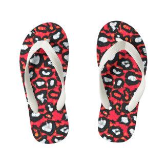 Red Black Cheetah Abstract Thongs