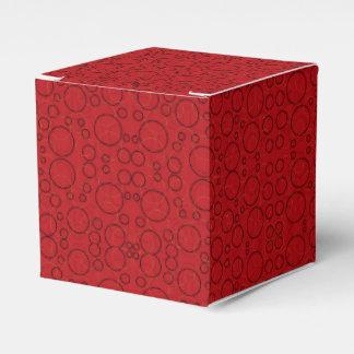 red black circles gift box